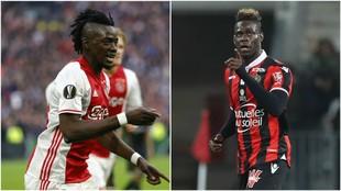 Traore (Ajax) y Balotelli (Niza)