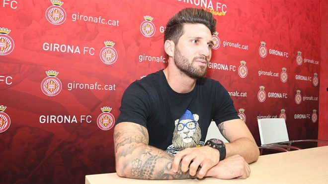Planas, en su presentación como jugador del Girona.