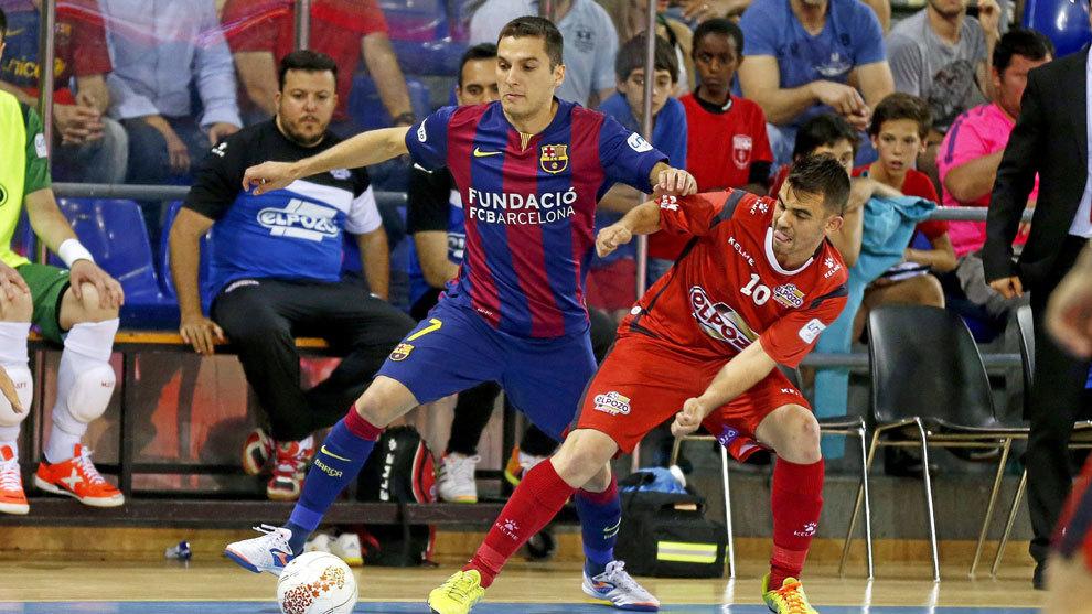 Dyego, en un partido con el Barcelona Lassa