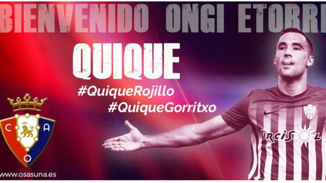 Quique, nuevo jugador de Osasuna.
