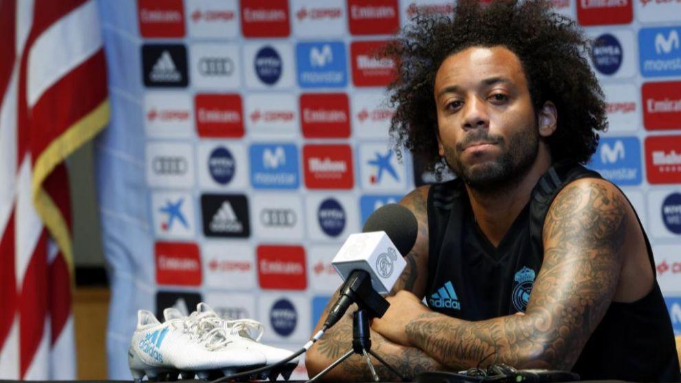 Marcelo durante la primera rueda de prensa de la pretemporada