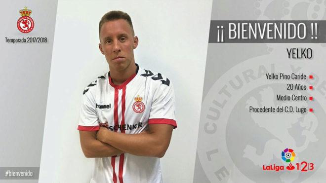 Yelko Pino, nuevo jugador de la Cultural Leonesa.