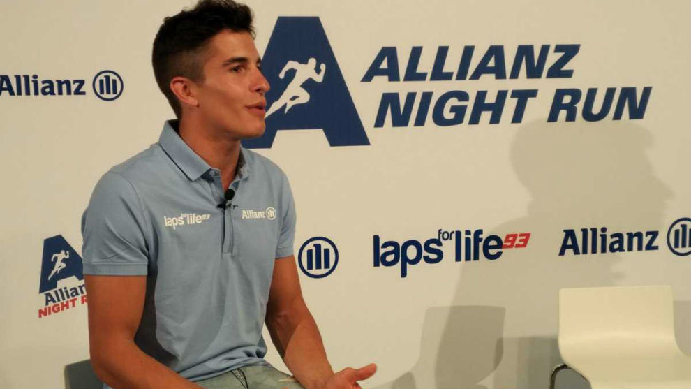 Marc M�rquez, en la Allianz Night Run