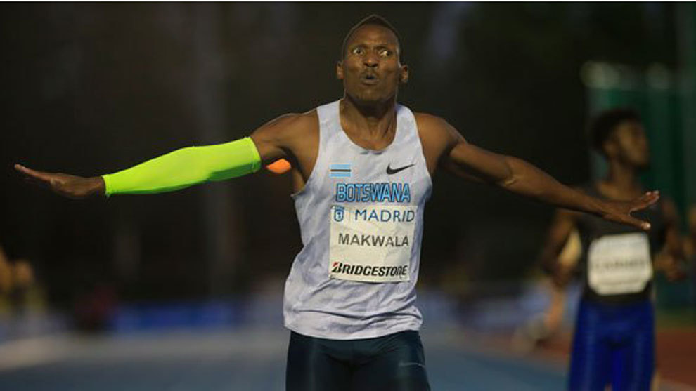 Isaac Makwala en el Meeting de Madrid.