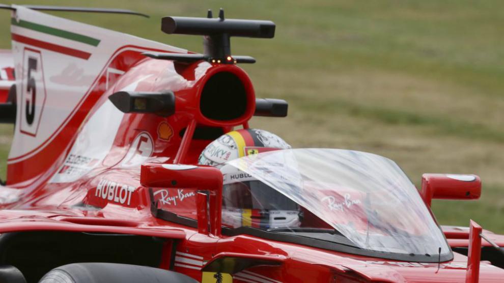 Vettel con el Shield