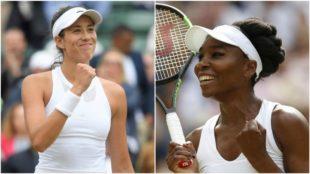 Garbi�e Muguruza (23) y Venus Williams (37), finalistas de Wimbledon