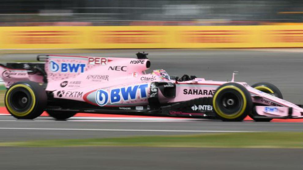 Checo Pérez, este sábado en la calificación del GP de Gran...