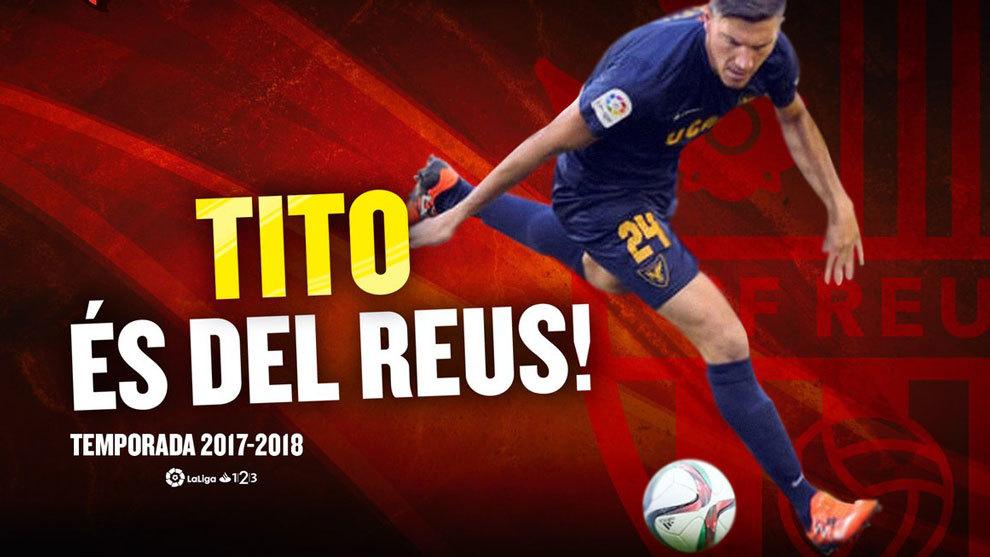 Reus le da la bienvenida a `Tito' en redes sociales