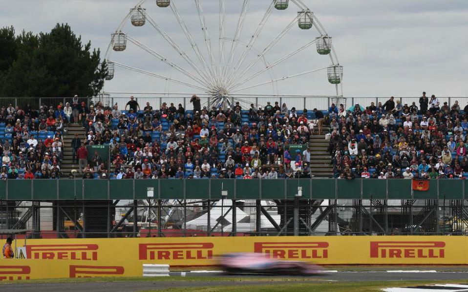 El Force India de Checo Pérez, en la calificación del GP de Gran...
