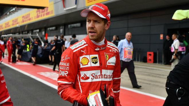 Vettel, en el GP de Gran Bretaña.