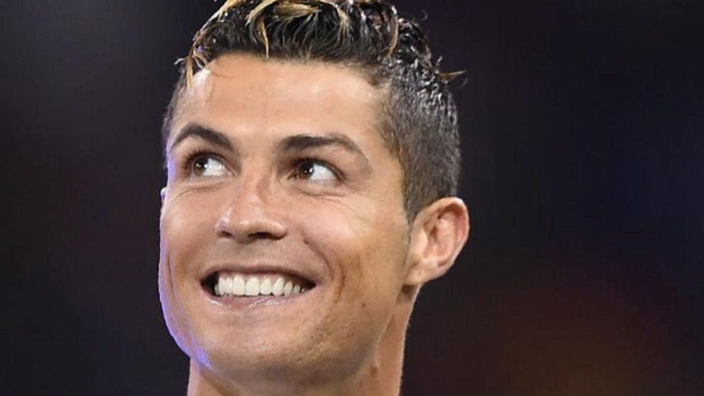Cristiano sonriendo tras ganar la Champions League con el Madrid