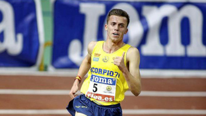 Carlos Mayo, durante una competición.