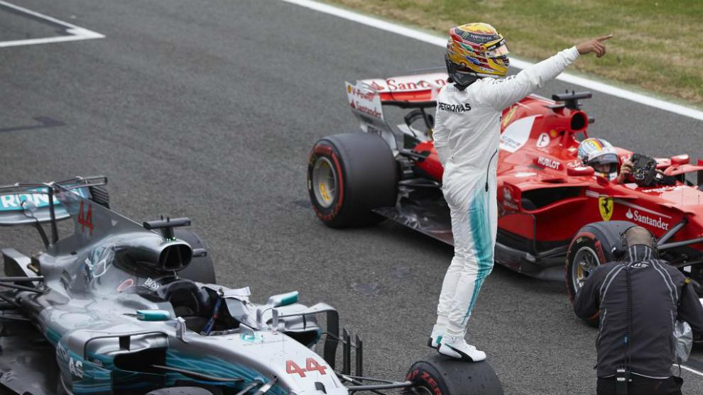 Hamilton tras lograr la pole