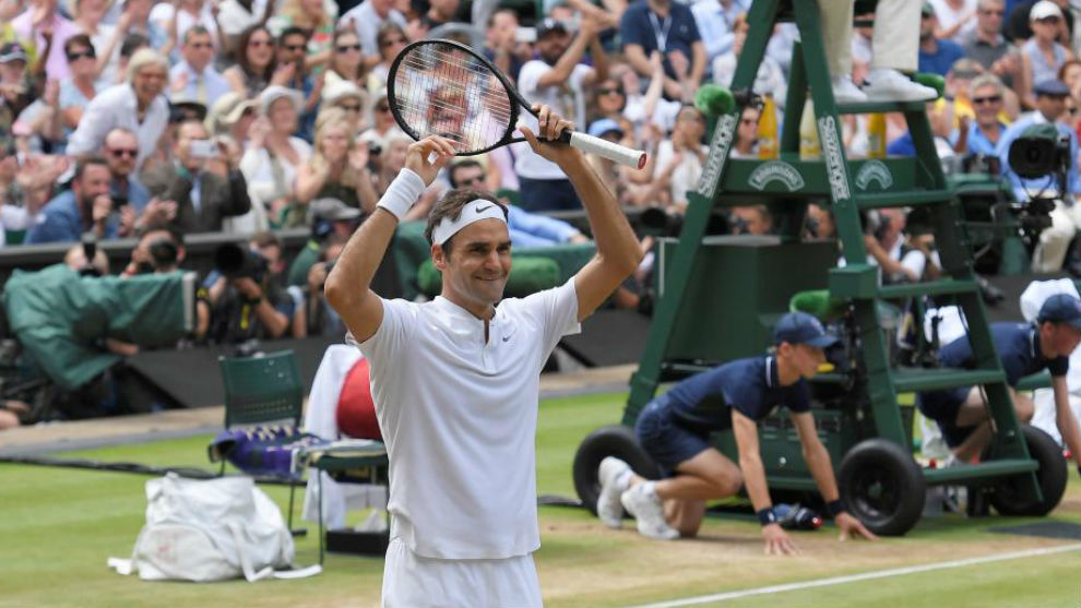 Federer celebra el título