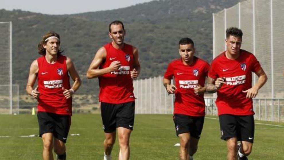 Filipe, Godín, Correa y Giménez en esta pretemproada
