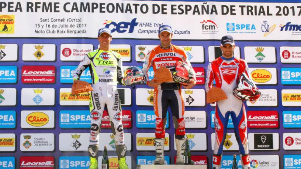 El podio de la prueba de CET en Sant Corneli (Barcelona)