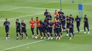 El equipo portugués ya entrenó en el Azul.