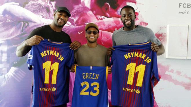 Draymond Green visitó a Neymar en Barcelona