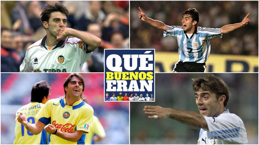Claudio López con el Valencia, América de México, la Lazio y la...