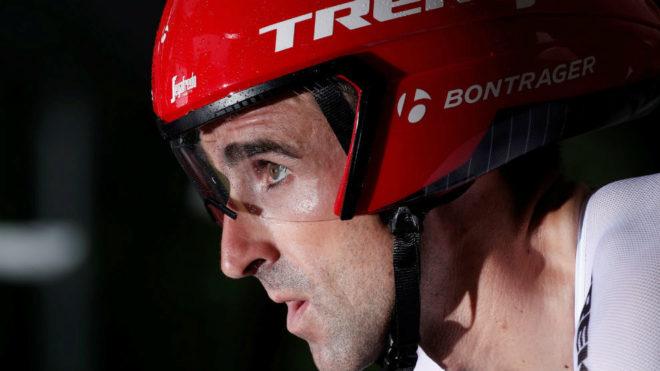 Haimar Zubeldia, en la salida de la primera etapa del Tour.