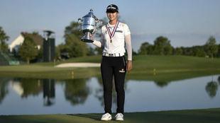 Hyuan Park, con el trofeo de ganadora del US Open.