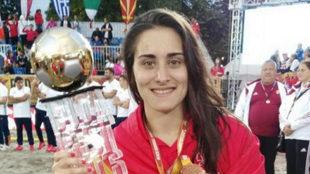 Patricia Encinas, con el Oro Mundial de Budapest 2016