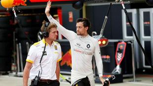 Jolyon Palmer, en el circuito de SIlverstone