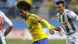 Aridane en un partido con el Cádiz.
