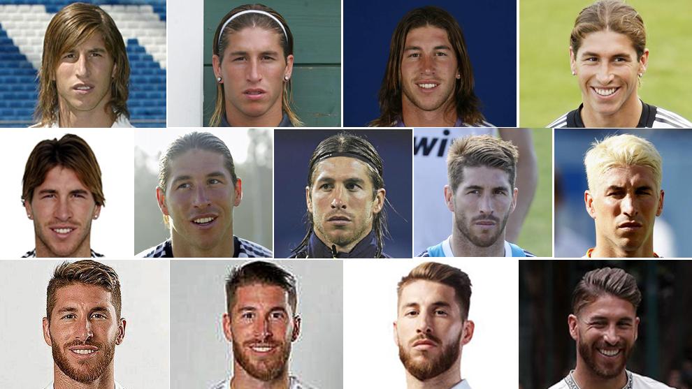 Las 13 caras de las 13 temporadas de  Ramos en el Real Madrid