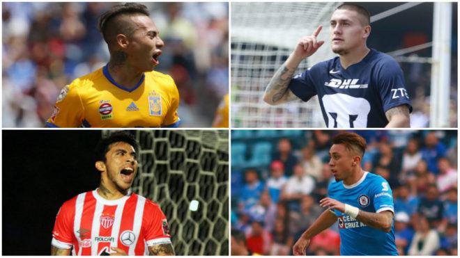 Los jugadores chilenos más destacados en la Liga MX.