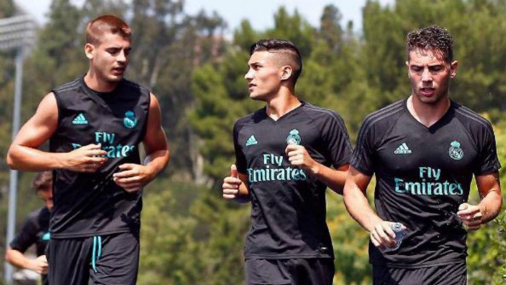 Óscar, en Los Ángeles junto a Morata y Luca