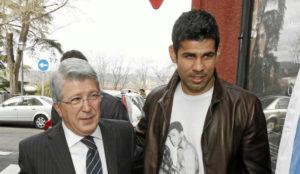 Enrique Cerezo junto a Diego Costa en una imagen del pasado.