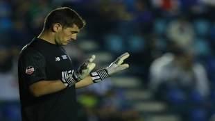 Iker Casillas, en el partido contra Cruz Azul.