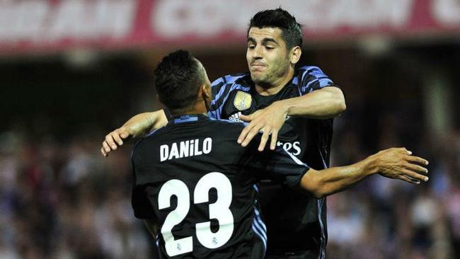 Danilo y Morata celebran un gol la pasada temporada