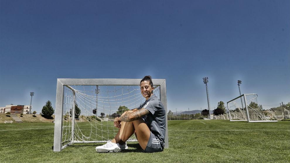 Jenni Hermoso durante un reportaje de MARCA en la Ciudad del Fútbol...