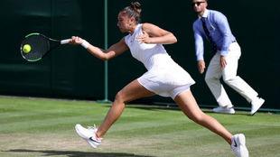 Sara Sorribes en Wimbledon.