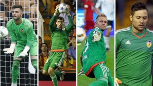Sivera, Ryan, Yoel y Diego Alves.