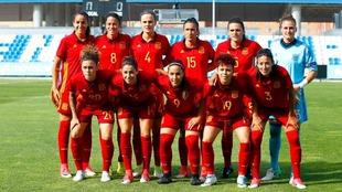 España, en el partido ante Brasil de hace unas semanas.