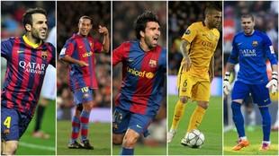 Fabregas, Ronaldinho, Deco, Alvés y Váldes