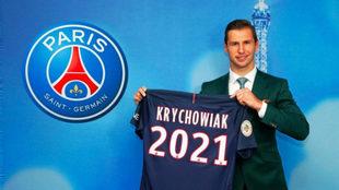 Krychowiak, durante su presentación con el PSG el pasado verano.