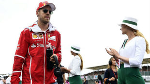 Vettel, en el pasado GP de Gran Bretaña.