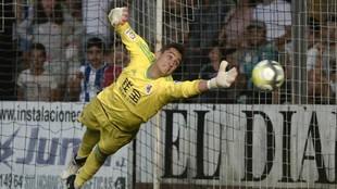 Sisniega, en el partido contra el Girondins.
