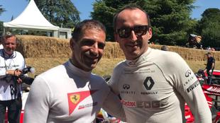 Kubica con Marc Gené