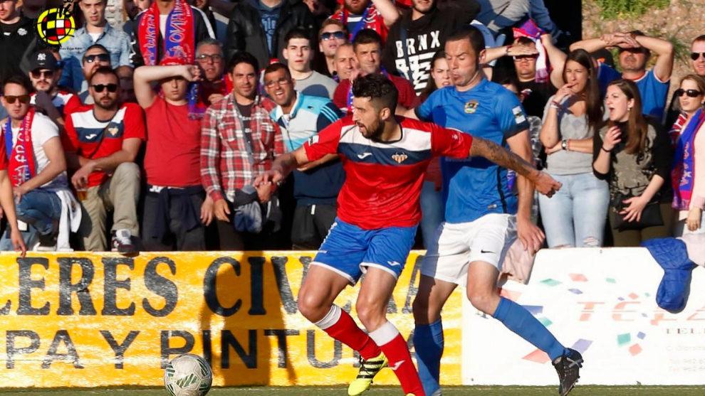 Imagen del partido de vuelta de la final entre Saguntino y...