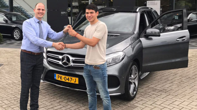 Picture of his Mercedes Benz   car