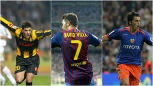 David Villa ha anotado goles al Madrid con Zaragoza, Valencia y...
