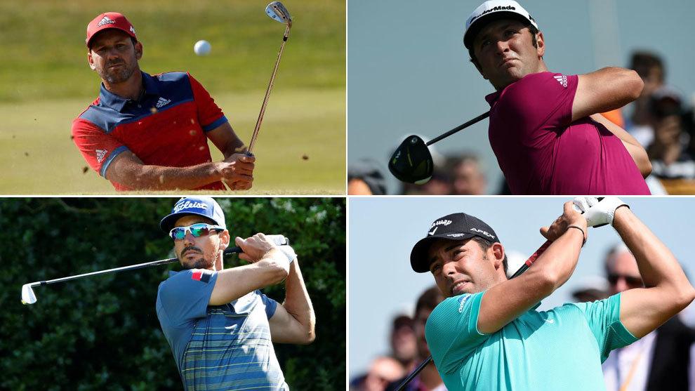 Resultado de imagen de profesionales españoles de golf
