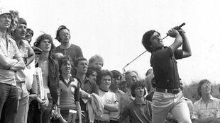 Severiano Ballesteros, durante el British Open de 1976.