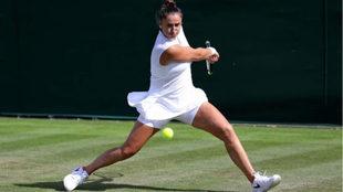 Sara Sorribes durante el torneo de Wimbledon.