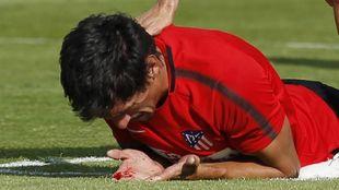 Savic tras el choque con Fernando Torres